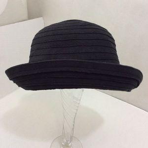 Vintage Giovannio NY Black Bowler Hat OS 90s